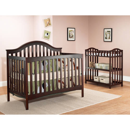 Sorelle Lynn 4-in-1 Fixed-Side Convertible Crib, Merlot