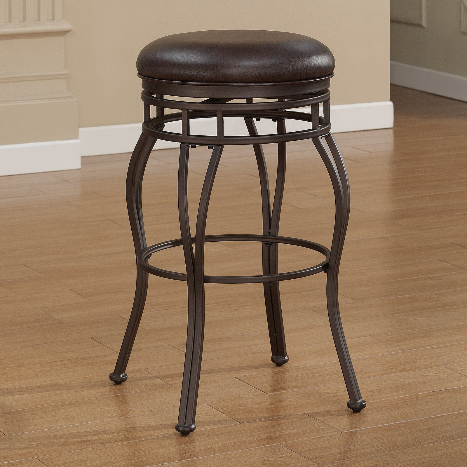 American Woodcrafters Villa Backless Counter Stool - Taupe Gray
