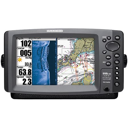 Humminbird 998c hd si fishfinder gps combo with side for Side imaging fish finder