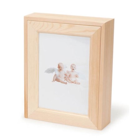 Wood Box Picture Frame Lid Unfinished Pine 8 34 X 7 X 2 14