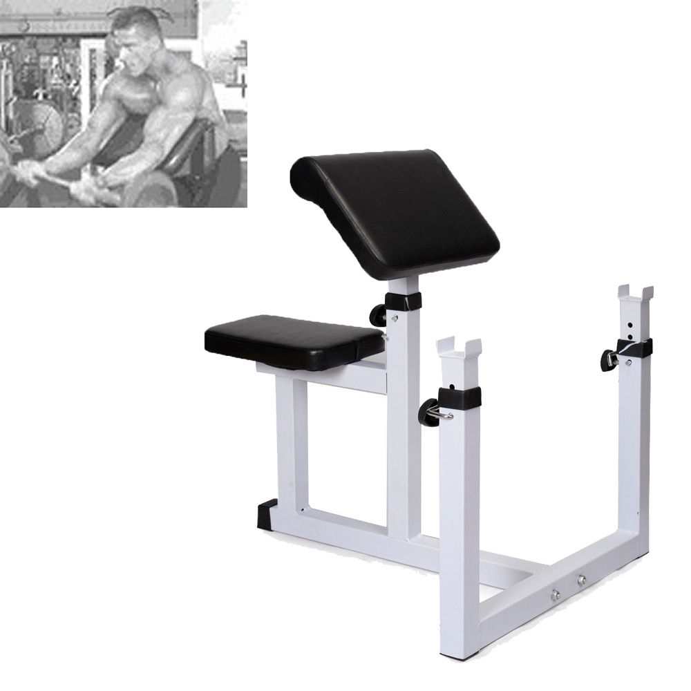 Zimtown Adjustable Preacher Curl Weight Bench, Seated Isolated Dumbbell Biceps Training Station, for Home Gym Arm Fitness Exercise, where to buy benches,simple benches,weight lifting bench press for sale