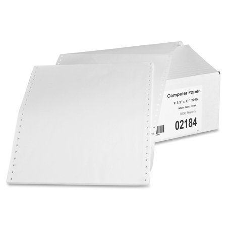 Feed Paper, Continuous, Plain, 1-Part, 9.5 x 11 Inches, with perforations 1000/Count, WE ()