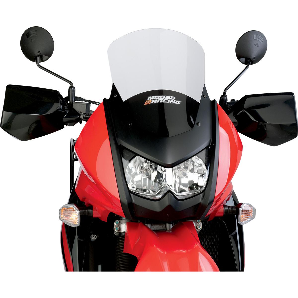 "Moose Racing Adventure Windscreen +4"" Clear With Silkscreen Fits 08-14 Kawasaki KLR650"