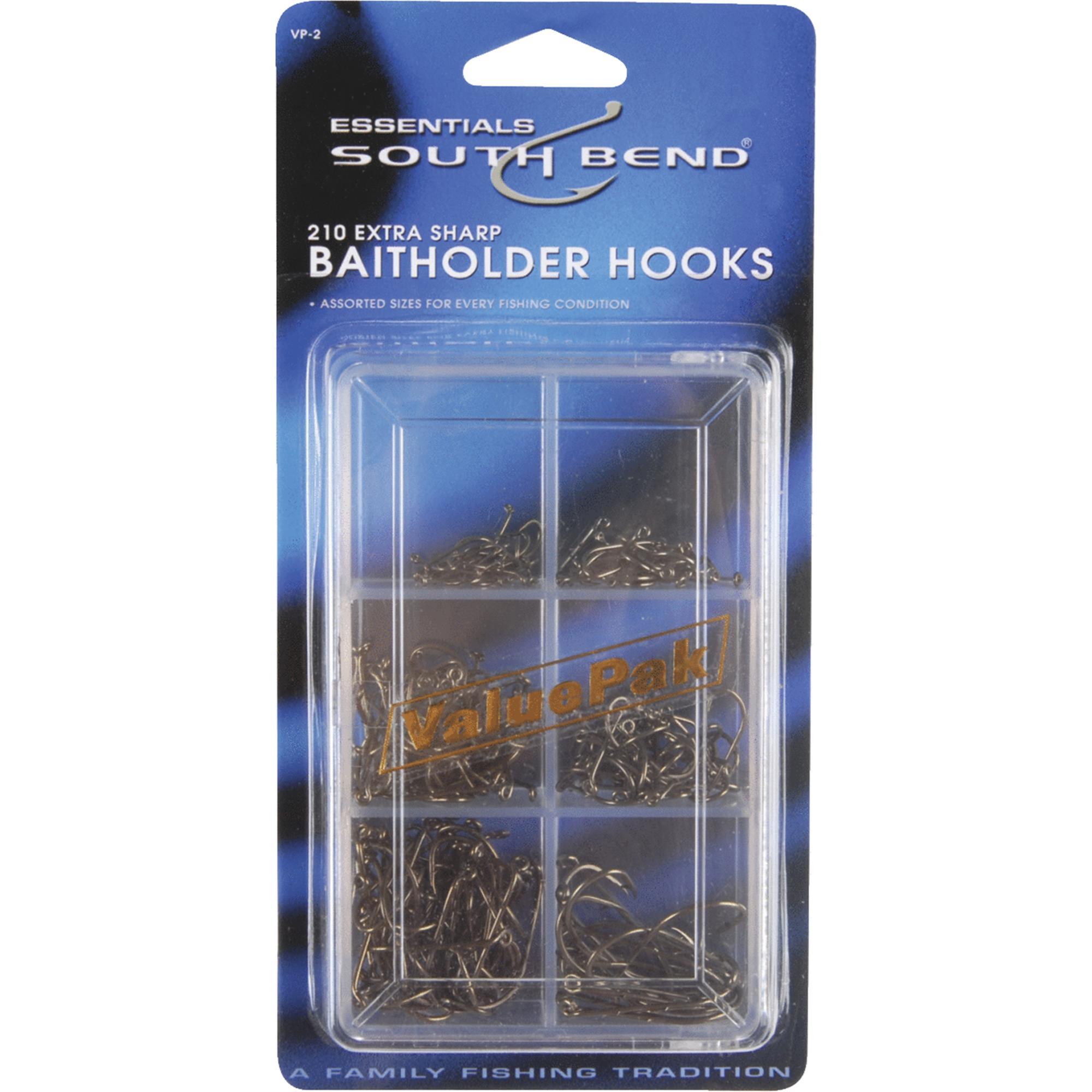 South Bend 210-Piece Bait Hook Value Pack