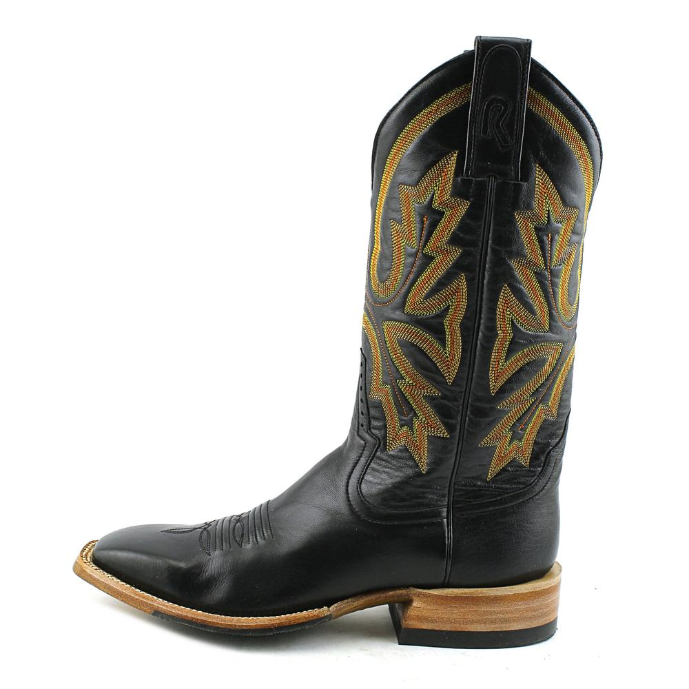 rod patrick bottiers noir de veau 11in volcan brass haut noir bottiers en bottes de cow - boy e458b0