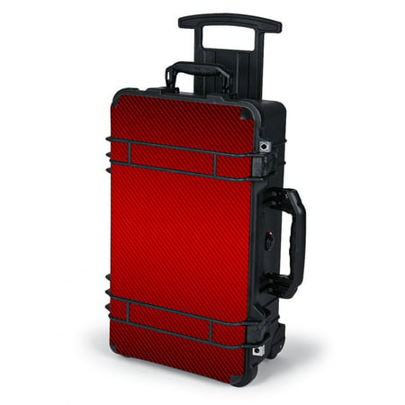 Skin Decal Wrap For Pelican Case 1510   Red Carbon Fiber Graphite