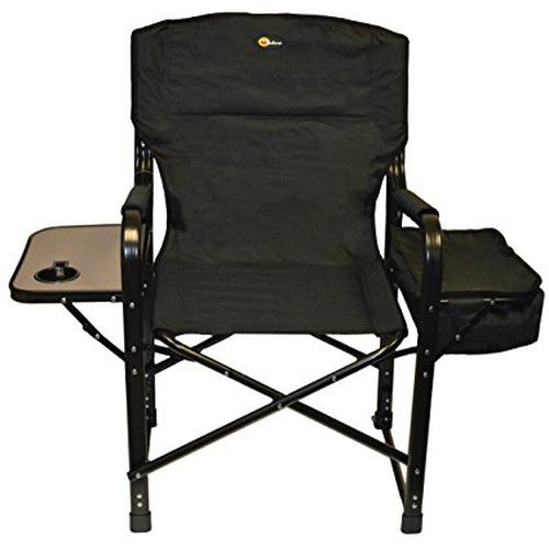 Faulkner 49580 El Capitan Folding Director Chair With Tray And Cooler Bag,  Black