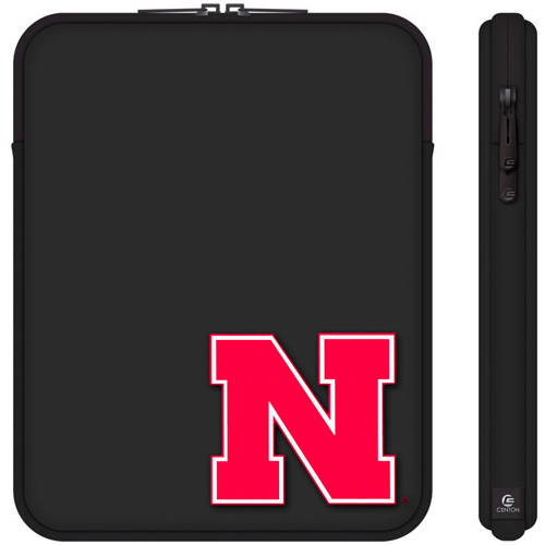 "Centon 10"" Classic Black Tablet Sleeve University of Nebraska"