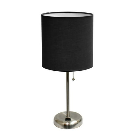 LimeLights Stick Lamp with Outlet and Fabric