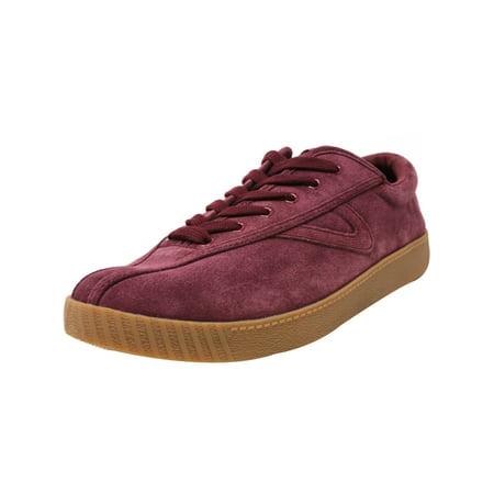 Tretorn Men's Nylite 16 Plus Suede Sangria / Ankle-High Fashion Sneaker -