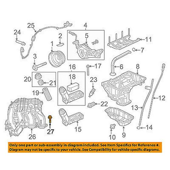 CHRYSLER OEM 11-16 300 3.6L-V6 Engine-Intake Manifold Bolt 6509356AA on 6.4l engine diagram, 5.4l engine diagram, l6 engine diagram, 7.3l engine diagram, 6.0l engine diagram, 2.2l engine diagram, 2.8l engine diagram, v-8 engine diagram, v-6 engine diagram, 4.2l engine diagram, 3.1l engine diagram, diesel engine diagram, 4.0l engine diagram, 2.5l engine diagram, 2.0l engine diagram, 2.3l engine diagram, 4.3l engine diagram, 3.8l engine diagram, 5.3l engine diagram, 3.9l engine diagram,