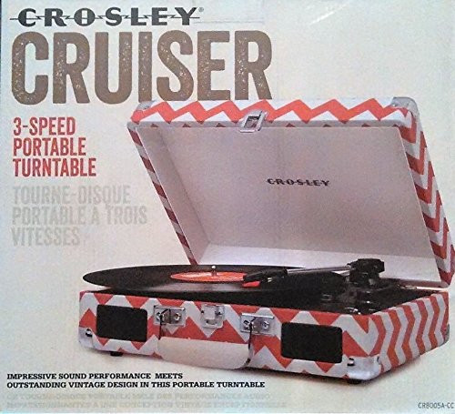 Crosley Cruiser CR8005A_CC 3_Speed Portable Audio Ready Turntable W_built in... by Crosley
