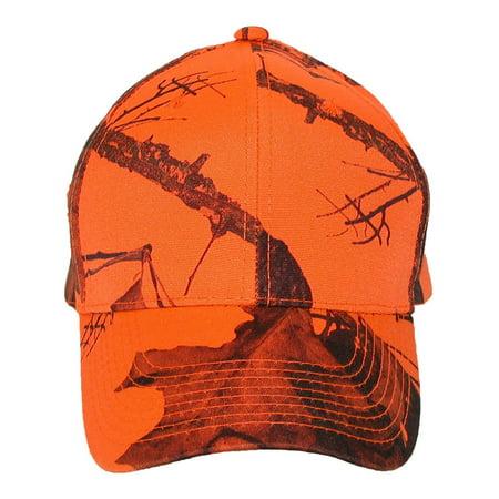 Size one size Men's Mossy Oak Break Up Blaze Orange Baseball Hat, Break Up Blaze Orange