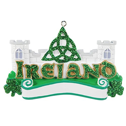 Ireland Personalized Christmas Ornament DO-IT-YOURSELF