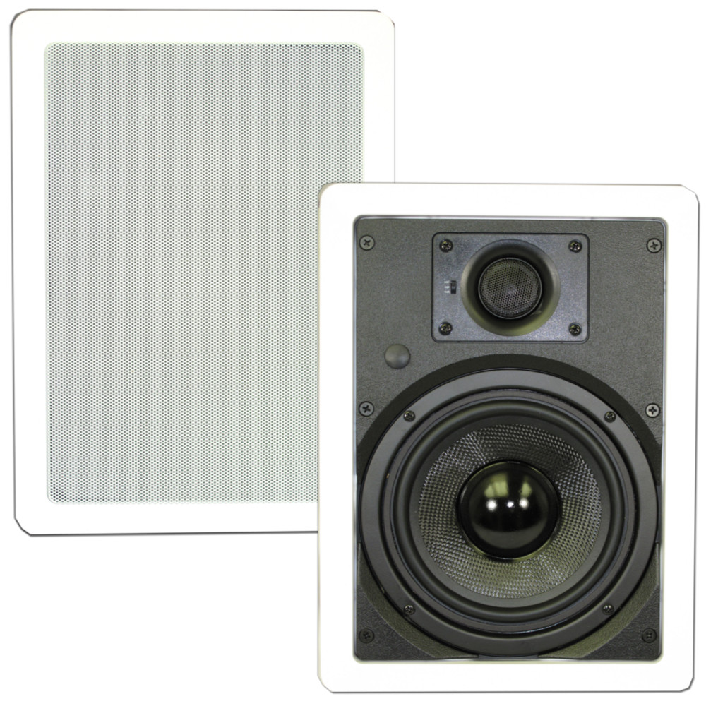 """Theater Solutions TSS6W In Wall 6.5"""" Speakers Surround Sound Home Theater Deluxe Pair"""