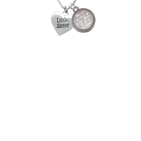 Little Sister Heart You are my Sun, My Moon, and All of My Stars Engraved - Sun And Moon Friendship Necklace