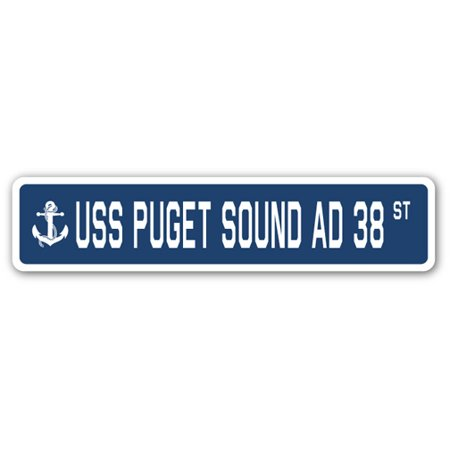 USS PUGET SOUND AD 38 Street Sign us navy ship veteran sailor gift
