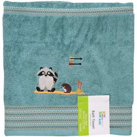 Mainstays Kids Woodland Creatures Bath Towel, 1 Each