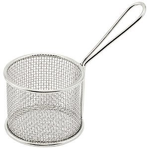 Winco FBM-443S, 4x4x3-Inch Stainless Steel Square Mini Deep Fry Serving Basket