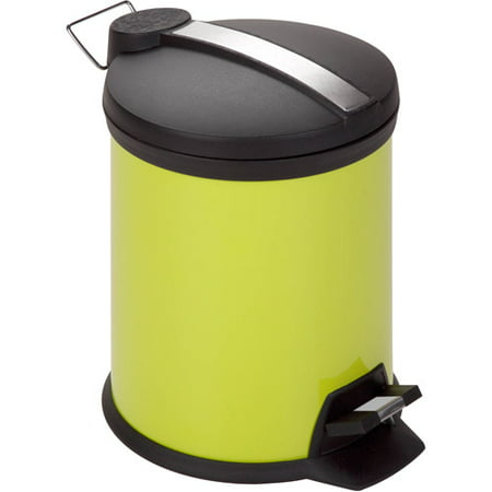 Honey Can Do 5-Liter Step Trash Can, Lime