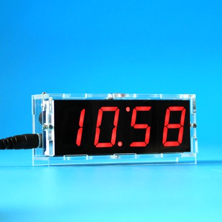51 Single-chip Microcomputer Light-control LED Digital Display Electronic Clock Making Kit DIY Manufacturing Accessories Parts - image 6 de 6