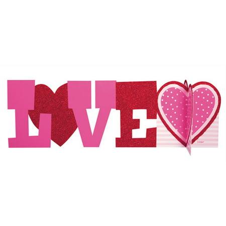 Deluxe Love Valentine Centerpiece Decoration