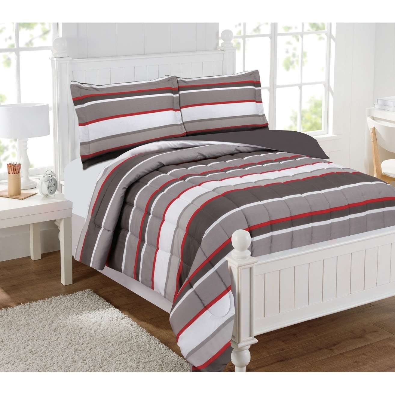 Brett Stripe 3pc Comforter Set