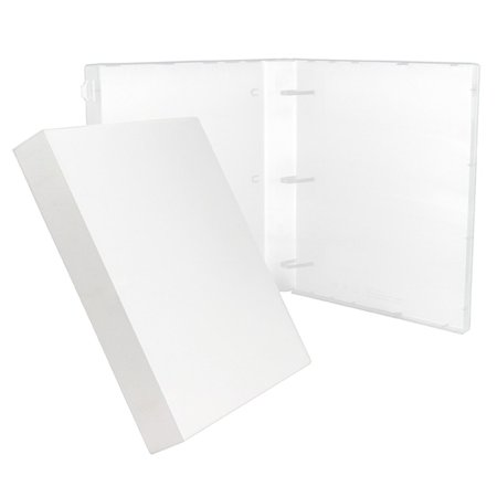 UniKeep 3 Ring Binder - White - Case Binder - 1.5 Inch Spine - Without Clear Outer Overlay - Box of 15 Binders