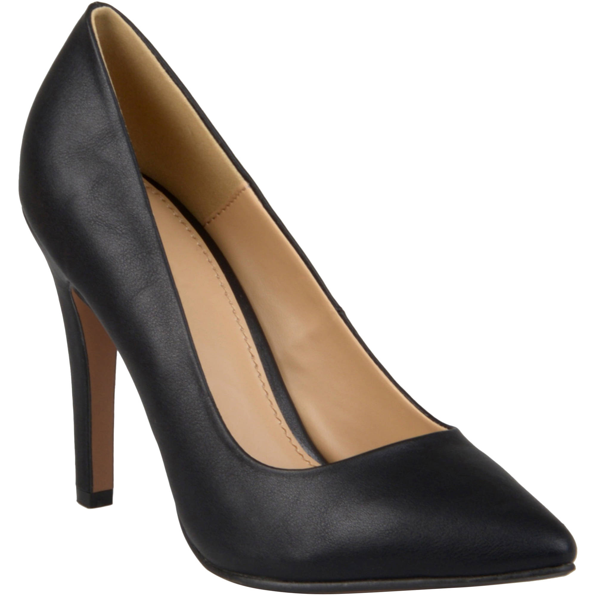 Brinley Co. Womens Wide Width Pointed Matte Finish Pumps
