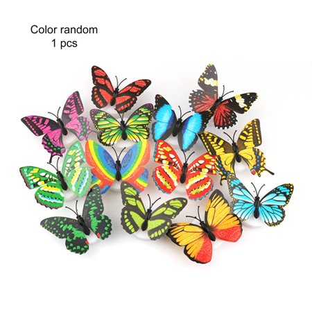 Cute Butterfly LED Light Color Changing Night Light Home Room Desk Wall Decor - image 2 of 9