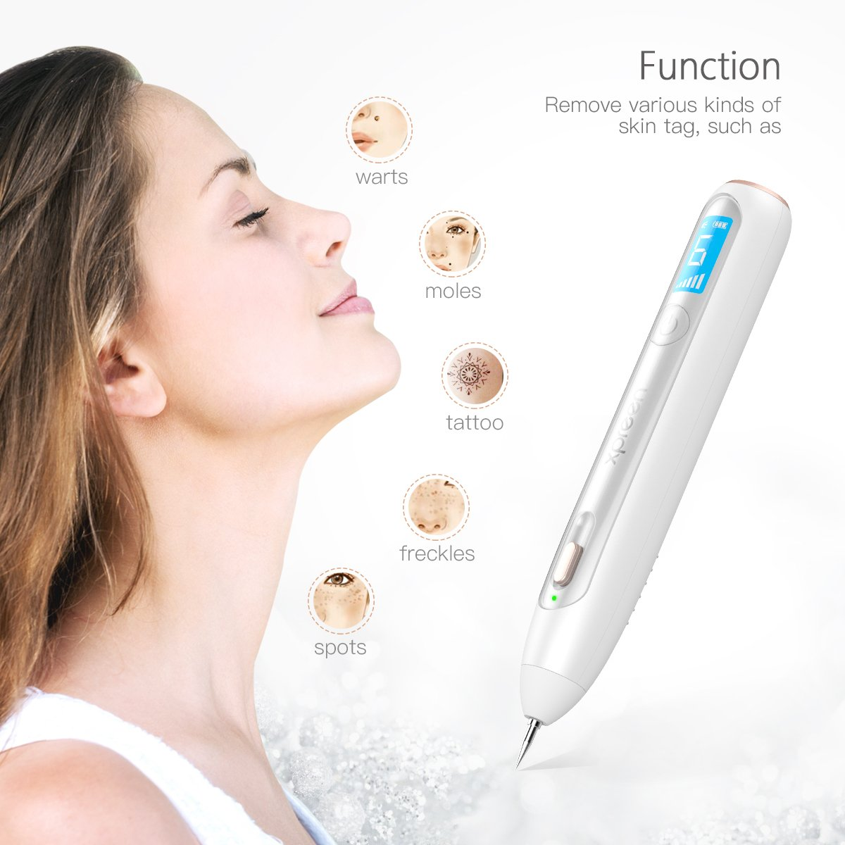 Wireless Rechargeable Dot Mole Remover Pen Xpreen Skin Tag Remover With Led Screen And Spotlight 6 Adjustable Modes Mole Dark Removal Kit For Wart Freckle Dark Spot Nevus And Tattoo Walmart Com