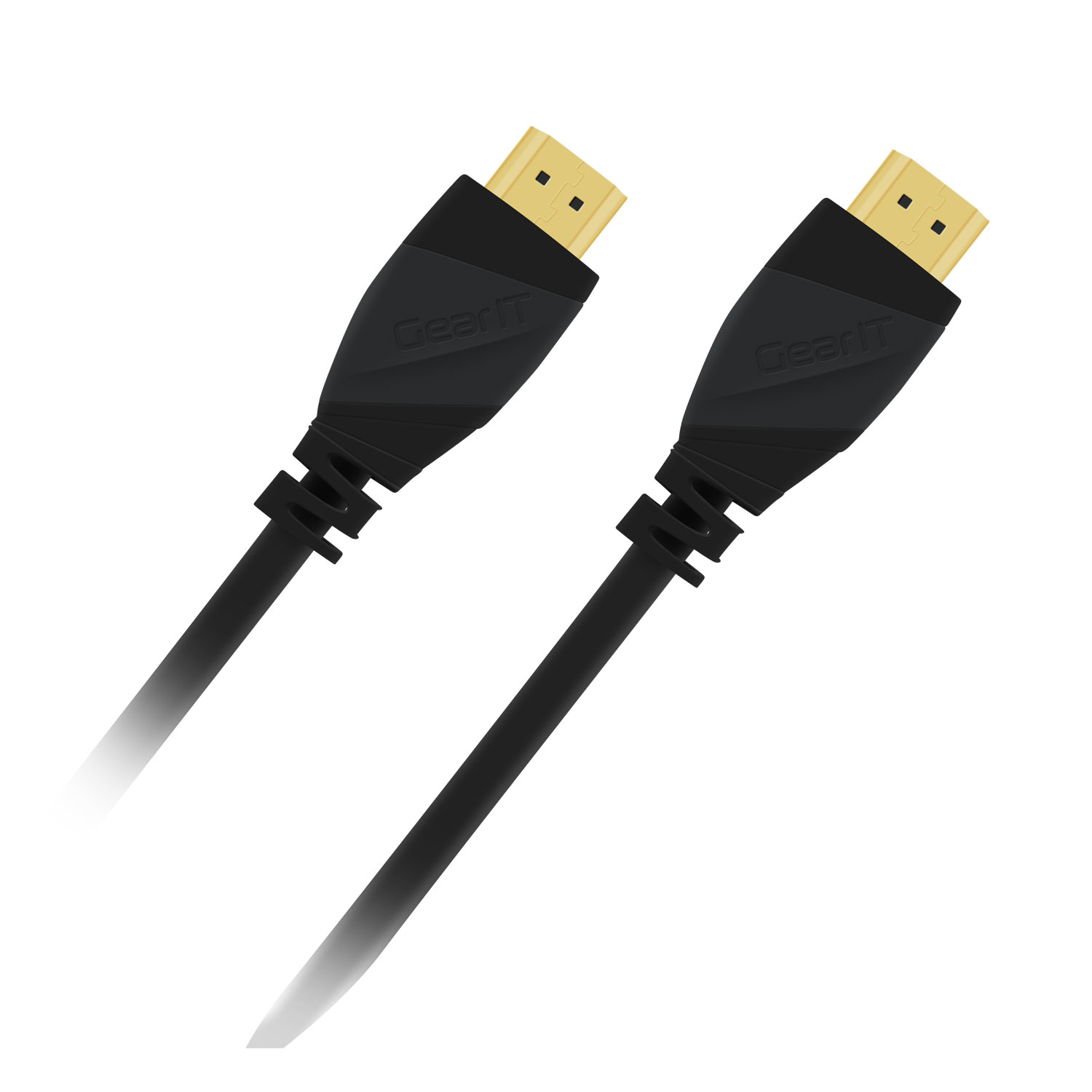 25 Ft HDMI Cable, GearIT (2-Pack) Pro Series HDMI 2.0 Cable 25 Feet / 7.5 Meter High Speed Ethernet Support 4K 60Hz / 1440P 144hz Resolution in 3D Video and 3D Gaming and ARC Audio Return Channel,