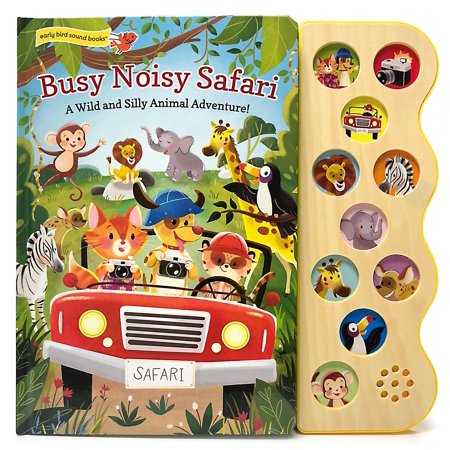 Early Bird Sound Books: Busy Noisy Safari (Board Book) Childrens Busy Book