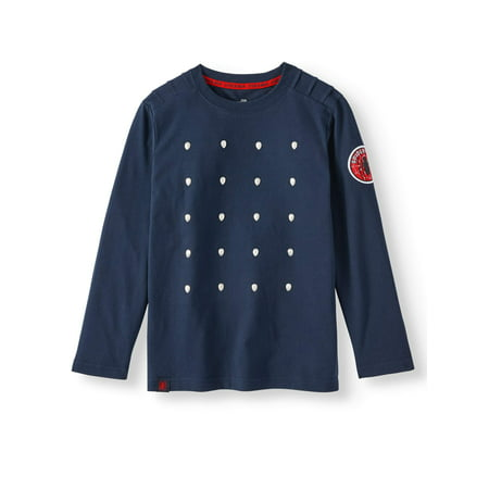 Spiderman Pumpkin Ideas (Marvel Spider-Man Long Sleeve Fashion T-Shirt (Little Boys & Big)