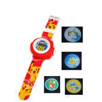 Pokemon Pikachu Projection Watch 20/24 Picture Images Childrens Watch - 00PPW1