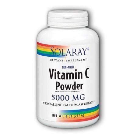 Solaray C Non Acidic Crystalline 5000 mg Powder, 8 Oz
