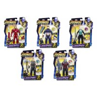 Marvel Avengers: Infinity War Iron Man, Cap. America, Black Widow, Thor & Starlord Set of 5 Action Figures [with Stones]