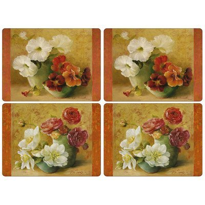 Pimpernel Floral Offering Placemats - Set of 4