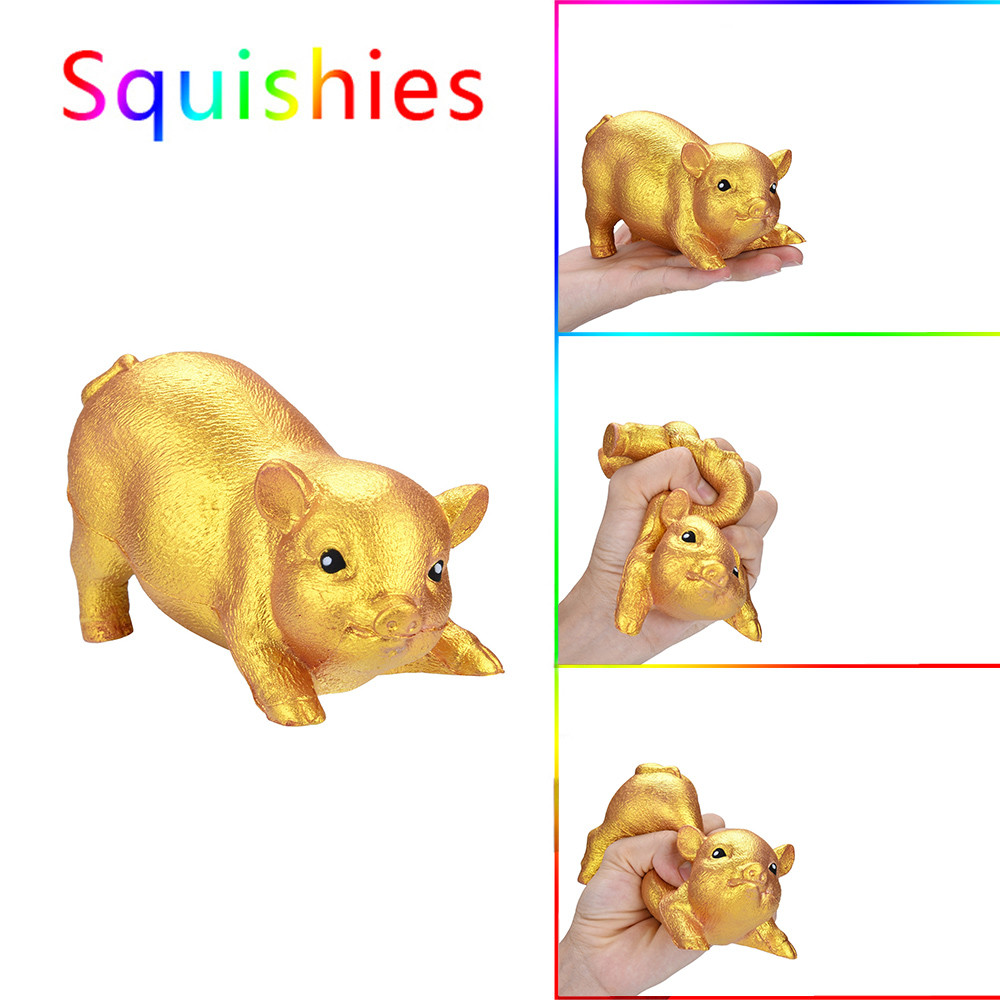 IuhanGolden Pig Scented Squishies Slow Rising Kids Toys Stress Relief Toy Hop Props