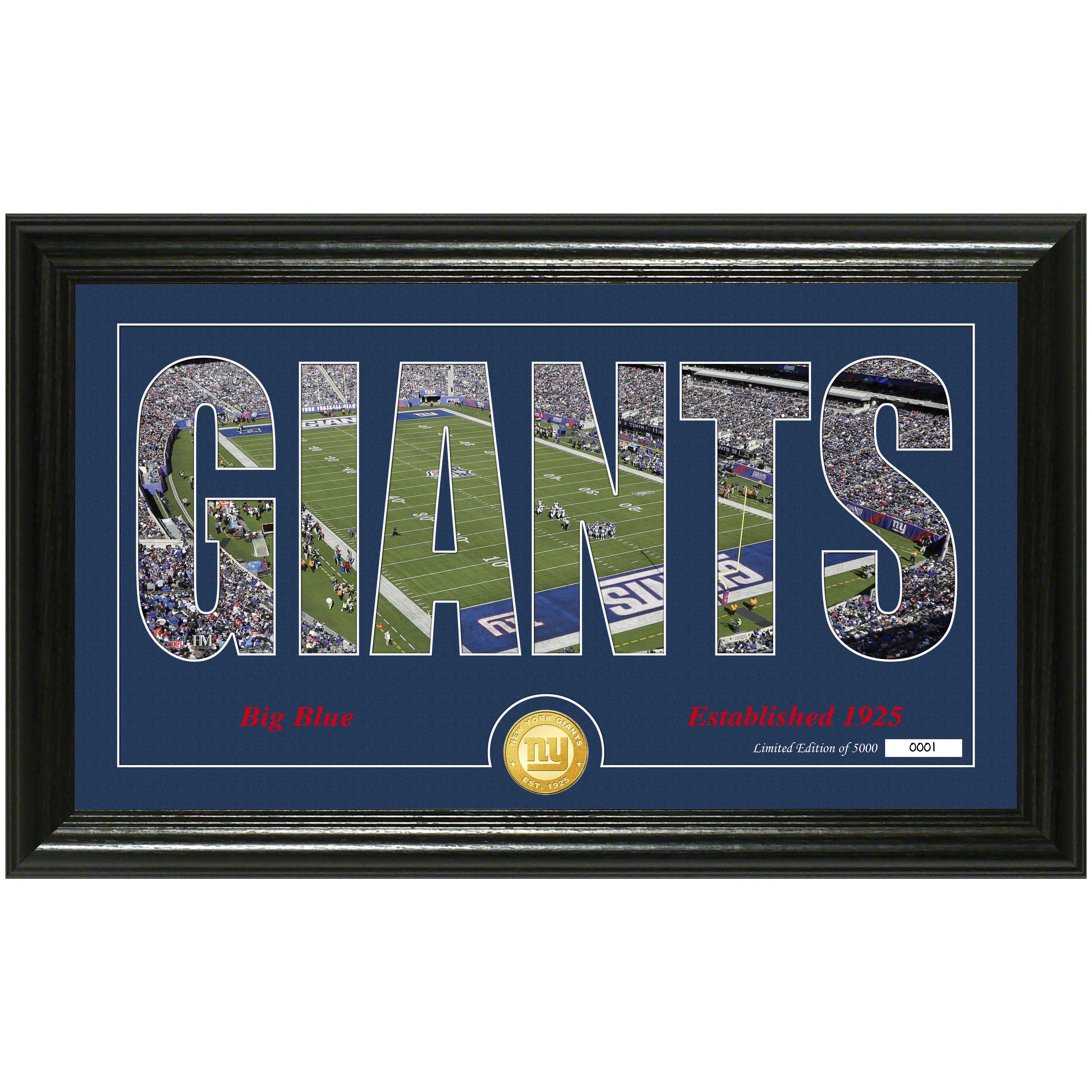 "New York Giants Highland Mint 12"" x 20"" Silhouette Panoramic Photo Mint - No Size"
