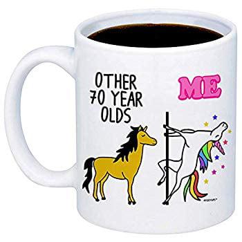 70th Birthday Gift Other 70 Year Olds Me Unicorn Coffee Mug Funny