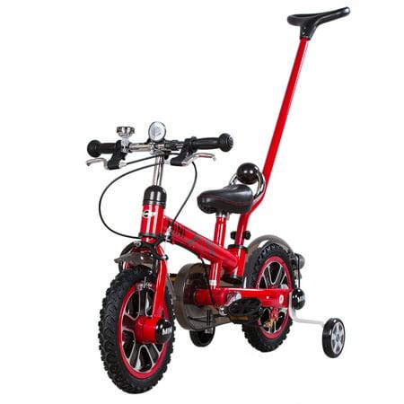 9f24367f069 Rastar 12 Inch Kids Pedal Bike BWM Mini Cooper Stroller Children's Bicycle  with Detachable Handlebar and Removable Stabilisers - Walmart.com