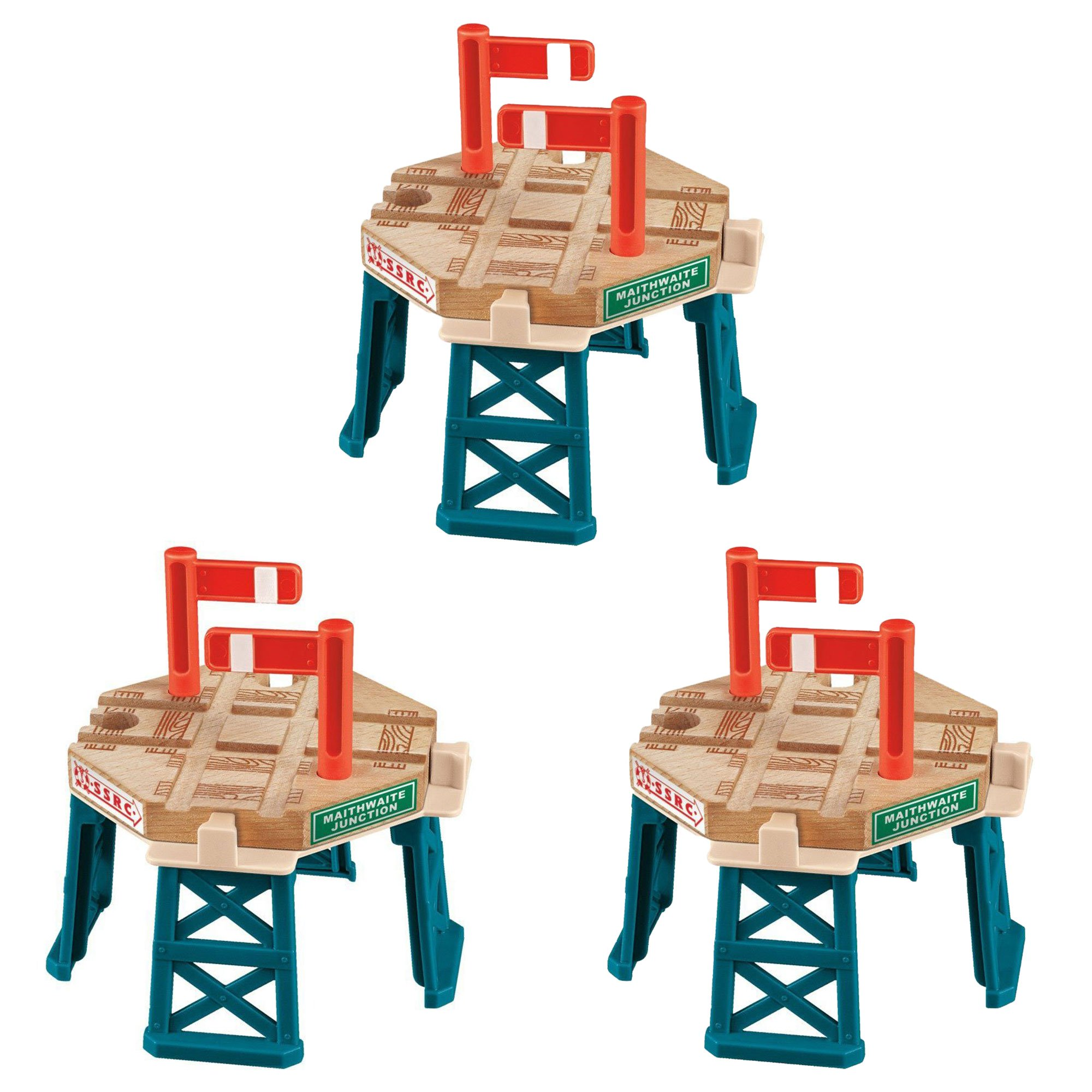 Fisher Price Thomas and Friends Wooden Train Railway Crossing Gate (3 Pack)