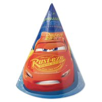 "Cars 3 Party Hats, 6"", 8ct"
