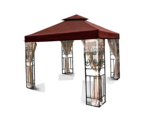 New 12'x12' Nutmeg Brown Shade 2-Tiered Replacement Garde...