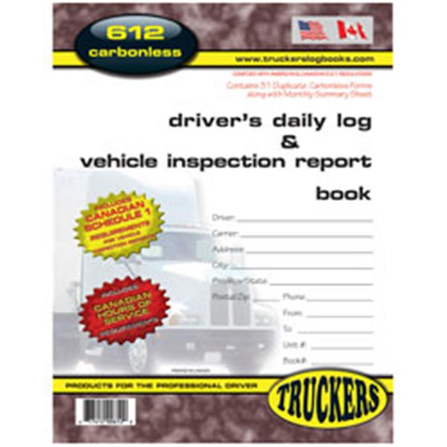truckers supply 612ts canadian drivers daily log vehicle