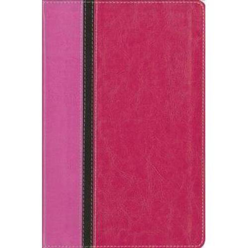 The Message Parallel Study Bible: New International Version, Orchid/Raspberry, Italian Duo-Tone, Personal Size, Numbered Edition