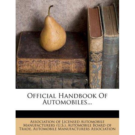 Official Handbook of Automobiles...