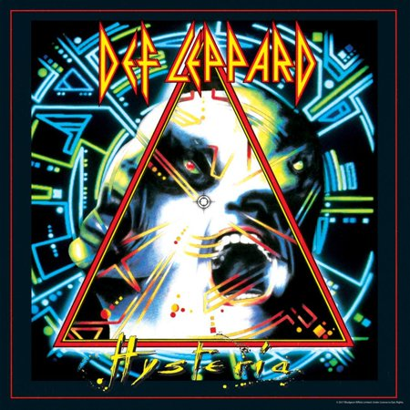Def Leppard - Hysteria 1987 Classic Rock Music Poster Wall Art By Epic Rights Rock Music Poster