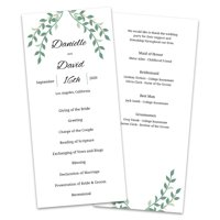 Personalized Laurels Wedding Program